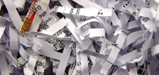 Shredder paper pieces by paper shredders
