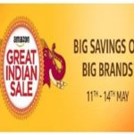 Amazon India: GREAT INDIAN SALE 11-14 May 2017.