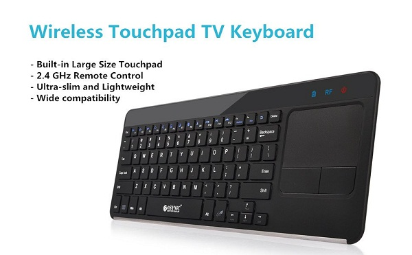 top five wireless keyboards with touchpad under 50. Black Bedroom Furniture Sets. Home Design Ideas