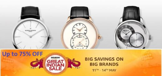 Men dial watches on Amazon India Sale