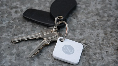 Tile Mate attached to keys