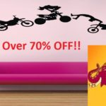 Amazon Great Indian Sale: Top 10 Wall Stickers with over 70% discount.