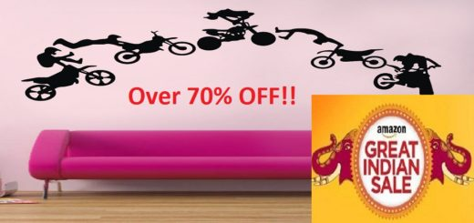 Wall sticker on Amazon India Sale