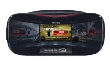 samsung virtual reality headset with 360 degree view