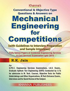 rk jain book for mechanical objective questions